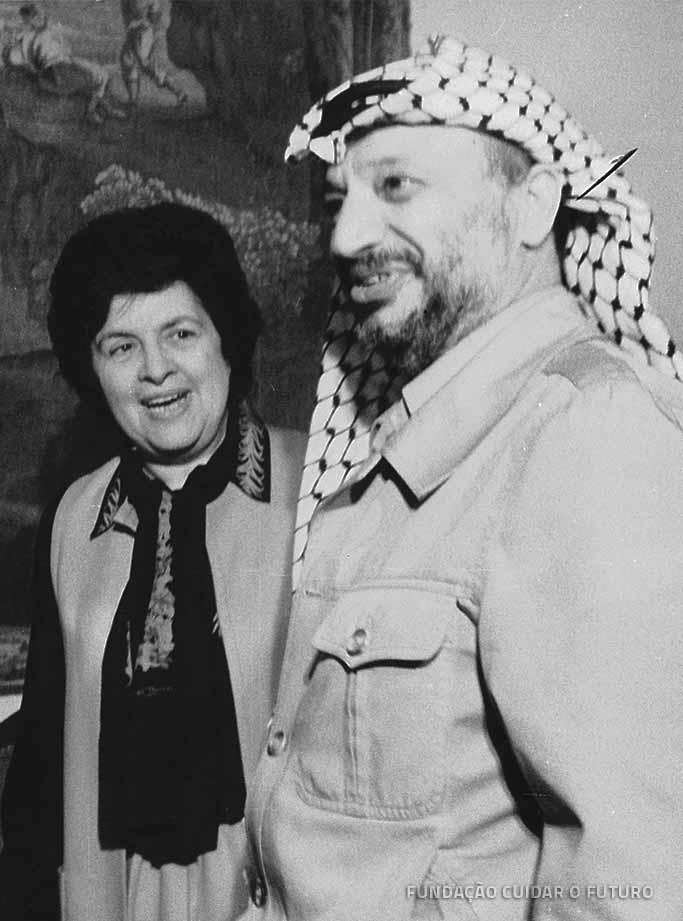 Maria de Lourdes Pintasilgo; Yasser Arafat
